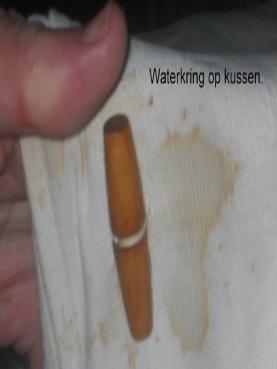 water vlek verwijderen (voor Safeclean behandeling)l
